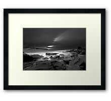 Patches of White Framed Print