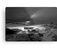 Patches of White Metal Print