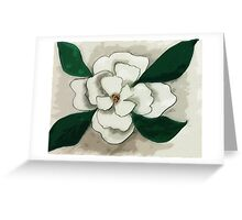 white Magnolia bloom, watercolor Greeting Card