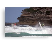 Kelly Slater & Jordy Smith Synchronised Airs  Canvas Print