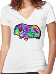 Guinea Pig Women's Fitted V-Neck T-Shirt