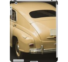 Rear view of retro car on a black background iPad Case/Skin