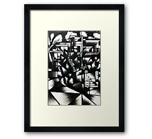 Broken Lens- A Brisbane mansion Framed Print