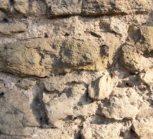 Stone wall of the large rough stones gray Sticker
