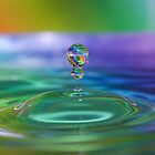Rainbow Stripe Droplets by Amy Dee