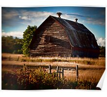 barn on route 2 Poster