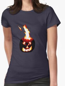 Jack-O-Lantern Womens Fitted T-Shirt