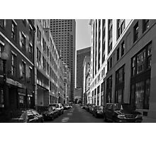 City of Boston Series......On Milk Street  Photographic Print