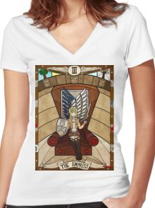 III The Empress - Christa Renz Women's Fitted V-Neck T-Shirt