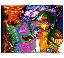 'Behind Me Destruction, Before Me Building--Reflections of My Future ~ Vibrant' Pieces Art™ Poster