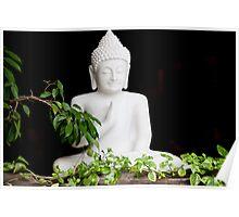 White Buddha Poster