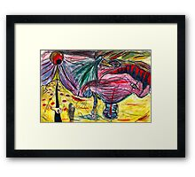 melting illusions painting Framed Print