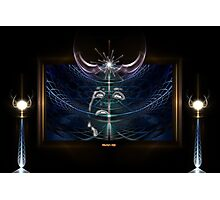 Vision - Portrait Of A Star Moon Photographic Print