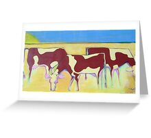 Cow Chow Greeting Card