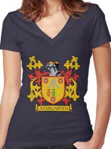 ATARGARYEN Women's Fitted V-Neck T-Shirt