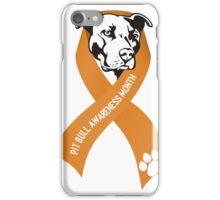 Pit Bull Awareness Ribbon iPhone Case/Skin