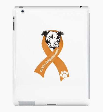Pit Bull Awareness Ribbon iPad Case/Skin
