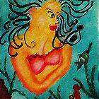 Mermaid #2, watercolor by Anna  Lewis