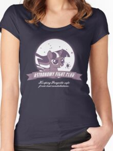 Twilight Sparkle's Astronomy Fight Club Women's Fitted Scoop T-Shirt