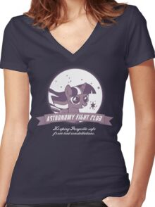 Twilight Sparkle's Astronomy Fight Club Women's Fitted V-Neck T-Shirt