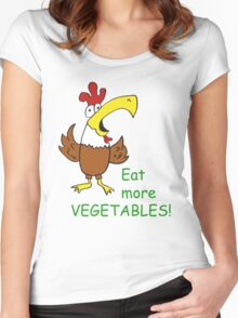 Funky Chicken Women's Fitted Scoop T-Shirt