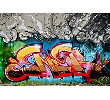 Abstract Graffiti on the textured wall Photographic Print
