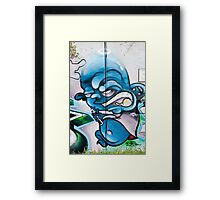Blue, Bold and Angry Framed Print