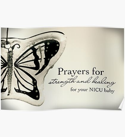 Prayers for a NICU Baby Poster