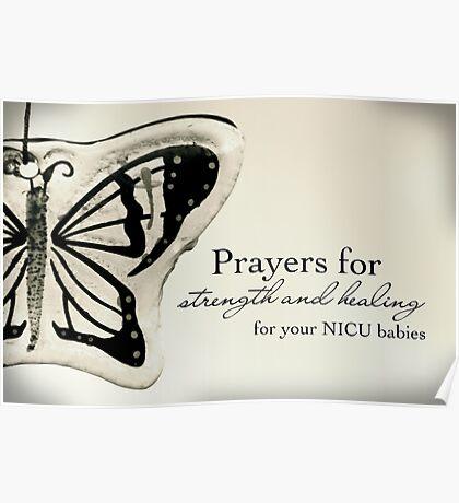 Prayers for NICU Babies Poster