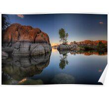 Rock Meets Tree Poster