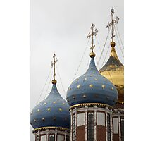 gold stars on the church dome Photographic Print