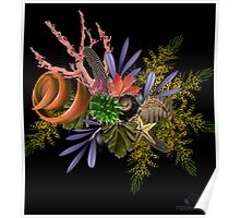 "Seaside Bouquet -  Translating ""Otherworld Botany"" by Diane Johnson-Mosley Poster"