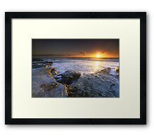 """The Golden Hour"" ∞ Caloundra, QLD - Australia Framed Print"
