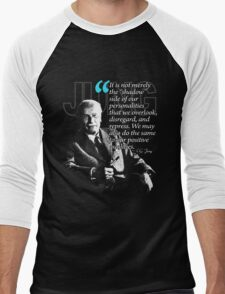 A Quote from Carl Gustav Jung Quote #48 of 50 available Men's Baseball ¾ T-Shirt