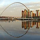 View across the Tyne to the Gateshead Millennium Bridge and the Baltic Art Centre by jrsisson