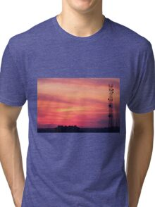 Tower of mobile communication antennas Tri-blend T-Shirt