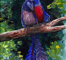 Archaeopteryx Pair - Prehistoric Love Birds by Peter Bond