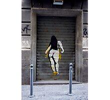Graffiti Poster Girl Photographic Print