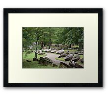Grist Mill Stones Framed Print