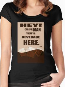 The Big Lebowski movie quote Women's Fitted Scoop T-Shirt