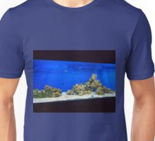 Large and long aquarium with sea water blue Unisex T-Shirt