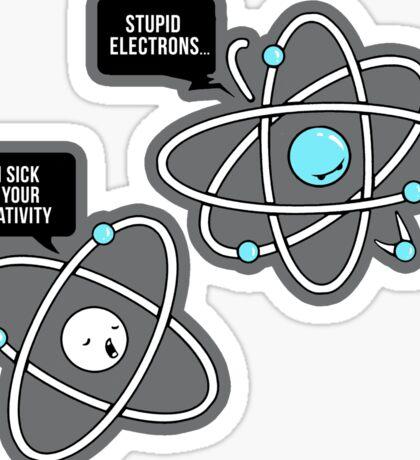 Negative Atom Sticker