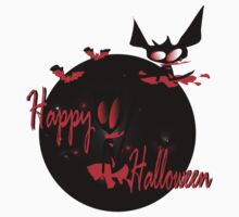 Happy Halloween horror  graphic fantasy  art by cheeckymonkey