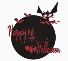 Happy Halloween horror  graphic fantasy  art by cheeckymonkey