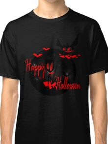 happy halloween horror fantasy vector art Classic T-Shirt
