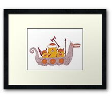 Viking Party Animals in a  Dragon Boat Framed Print