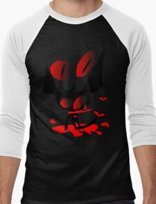 happy halloween horror fantasy vector art Men's Baseball ¾ T-Shirt