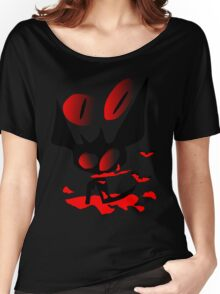 happy halloween horror fantasy vector art Women's Relaxed Fit T-Shirt