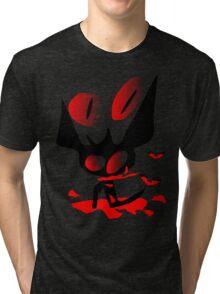 happy halloween horror fantasy vector art Tri-blend T-Shirt