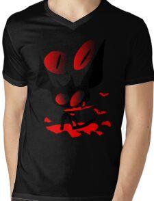 happy halloween horror fantasy vector art Mens V-Neck T-Shirt